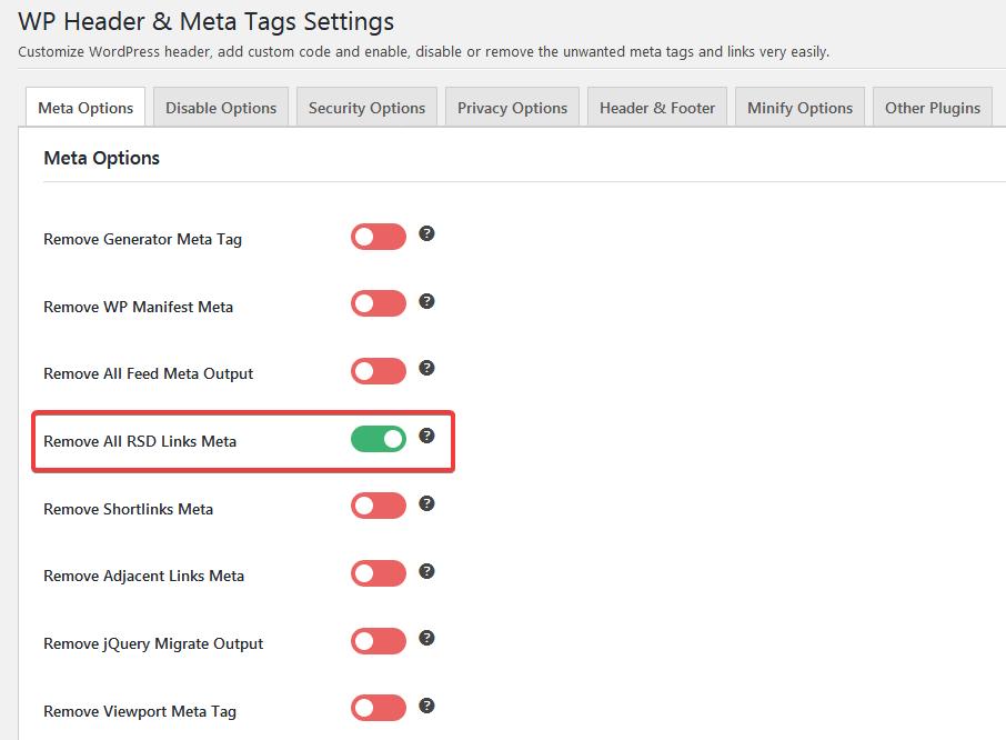 Настройка плагина WP Header & Meta Tags
