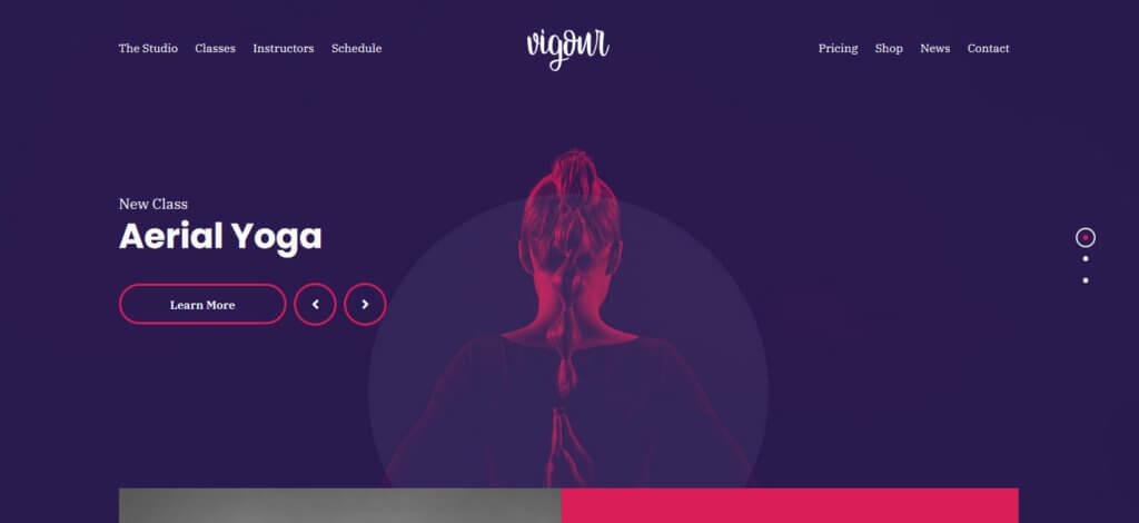 Демо-сайт на основе темы Vigour