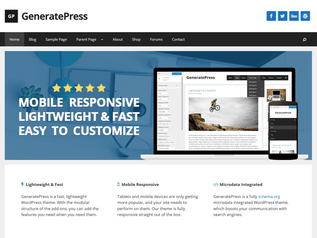 WordPress-тема GeneratePress